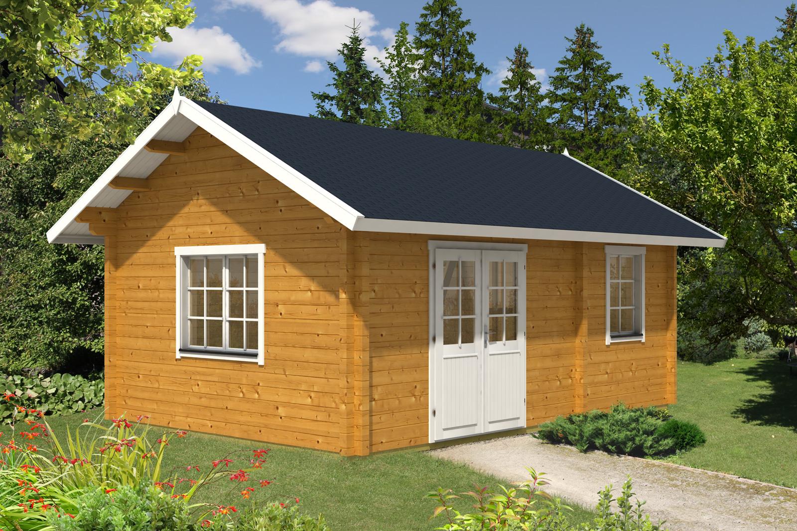 gartenhaus mit satteldach aus holz jetzt bis zu 50. Black Bedroom Furniture Sets. Home Design Ideas