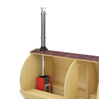 FinTec Holz Saunaofen TROLL mit Schornstein-System (Senkrecht)
