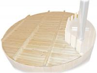 Holz-Abdeckung für Badezuber 160