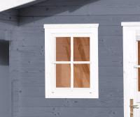 Einzelfenster für WEKA Gartenhaus 21/28 mm, 69x79cm, weiss