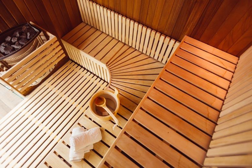sauna einrichten