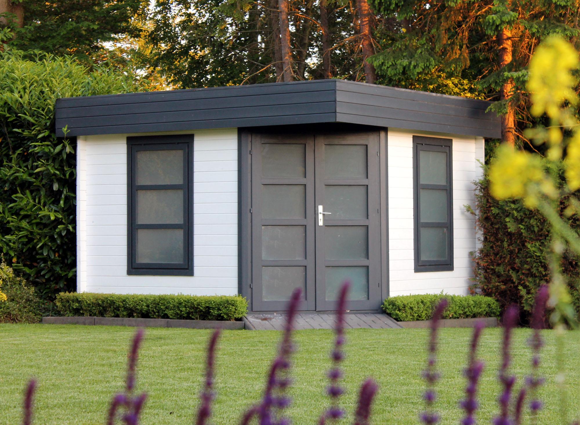 flachdach gartenhaus modell oregon 40. Black Bedroom Furniture Sets. Home Design Ideas