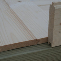 Holzfußboden  Flex-50 D + 200 cm Terrasse + Anbau