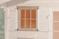 Einzelfenster für Gartenhaus 45 mm, 91x91 cm