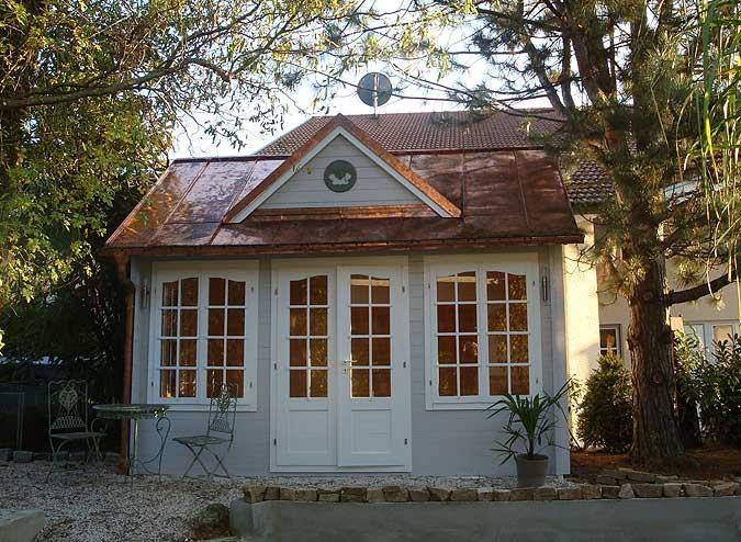 Gartenhaus mit Kupferdach