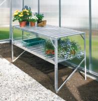 Aluminium-Tisch mit 2 Ebenen