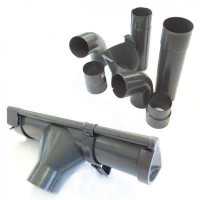 Metall Dachrinnen-Set Nr. 325KB dunkelgrau