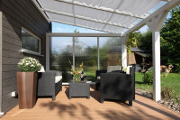 Seitenwand für Terrassenüberdachung aus Polycarbonat 300cm