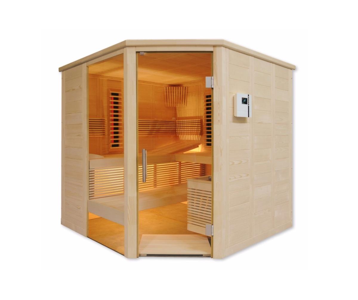 saunalux sauna infrarot kombikabine finnia premium. Black Bedroom Furniture Sets. Home Design Ideas
