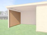 Seitenwand 21 mm, für Haustyp 126 und 172 + 225 natur, Tiefe 295 cm