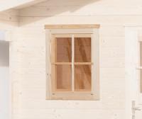 Einzelfenster für Gartenhaus 45 mm, 69x79 cm