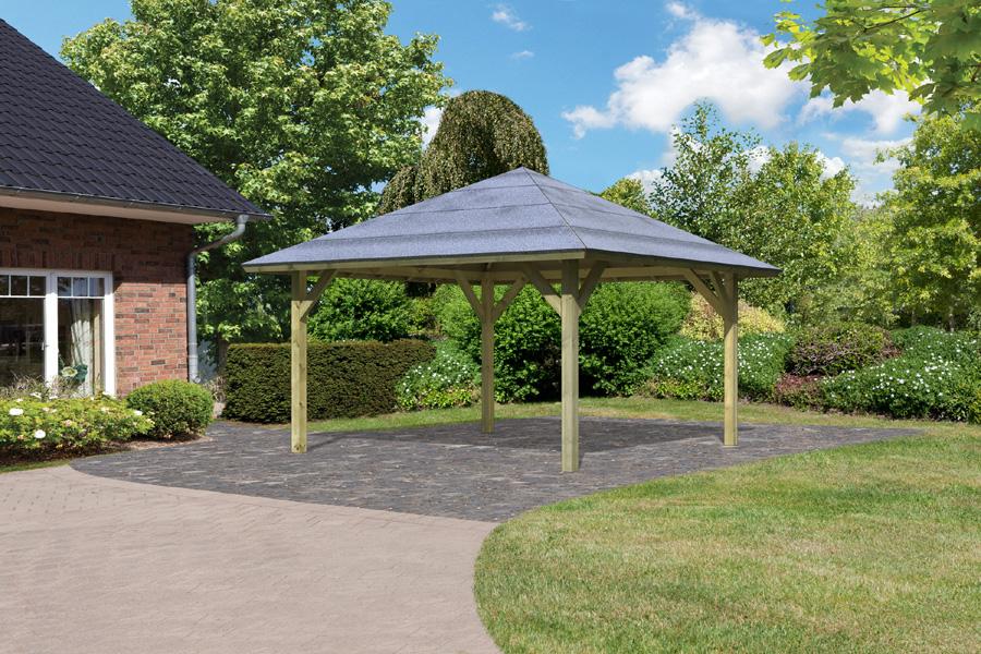 karibu pavillon carport kirn 1. Black Bedroom Furniture Sets. Home Design Ideas