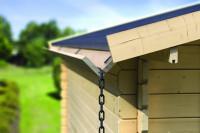 2 m Verlängerungsset für Holzdachrinne