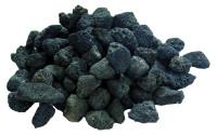 Lavasteine schwarz für Gas-Feuerstelle, 3kg