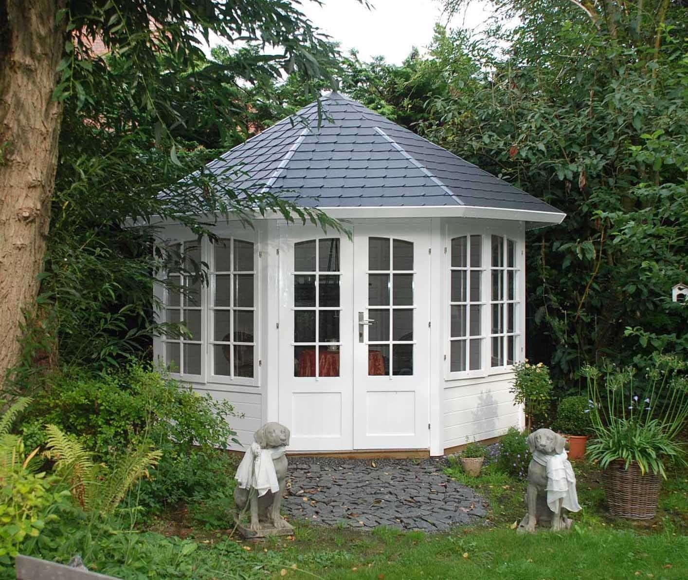Gartenpavillon aus Holz kaufen – Gartenlauben vom Fachmann