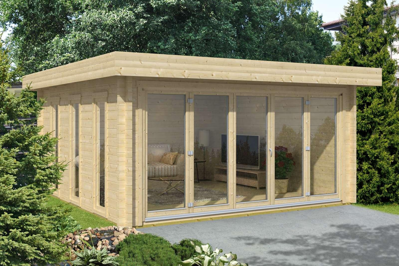 Gartenhaus mit Flachdach günstig kaufen 0€ Versandkosten