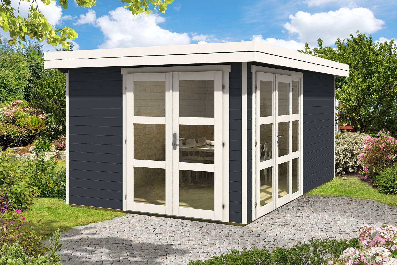 b ware gartenhaus luxor 28. Black Bedroom Furniture Sets. Home Design Ideas