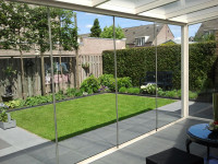 Glasschiebewandsystem 600 cm breit