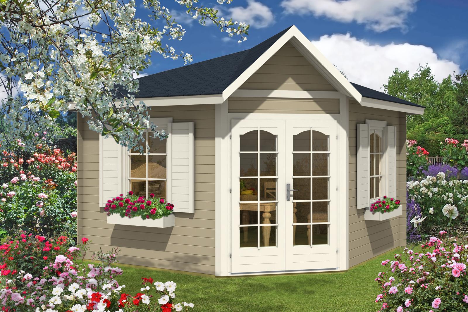 5 eck gartenhaus modell ancona 40. Black Bedroom Furniture Sets. Home Design Ideas