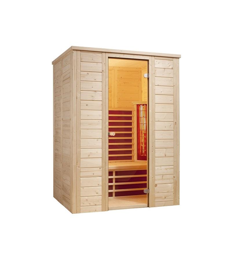 infraworld infrarotkabine vario natura 148 390115. Black Bedroom Furniture Sets. Home Design Ideas