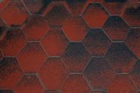 Dachschindeln 6-Eck de luxe rot