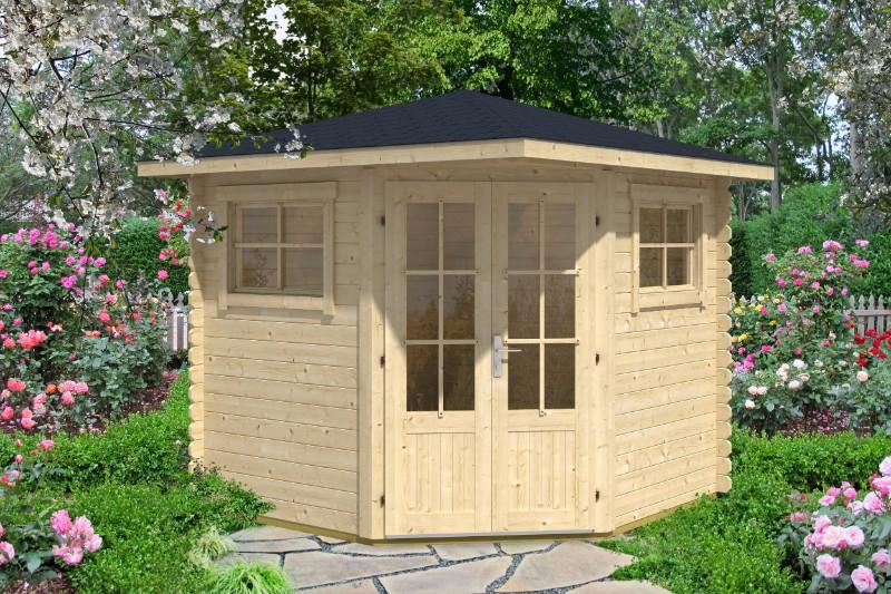 5 eck gartenhaus modell sunny b 5 eck gartenhaus modell. Black Bedroom Furniture Sets. Home Design Ideas