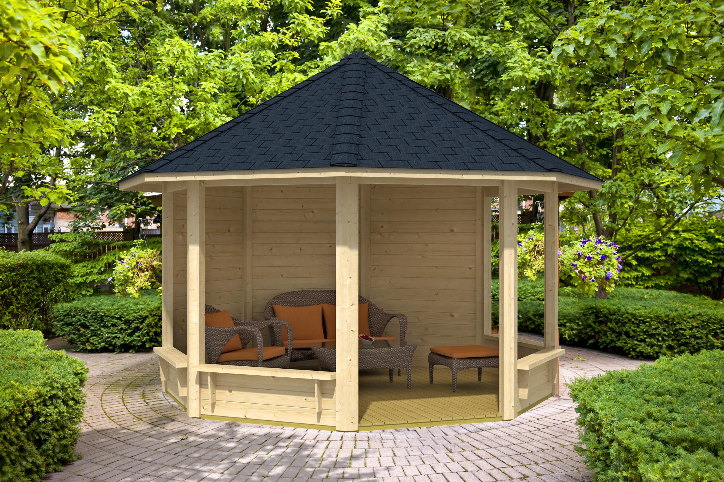 holzpavillon kaufen holz pavillon baus tze vom fachmann. Black Bedroom Furniture Sets. Home Design Ideas