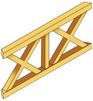 Andreaskreuz-Brüstung für Terrassenüberdachung Douglasie 170
