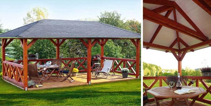 Walmdach Gartenpavillon