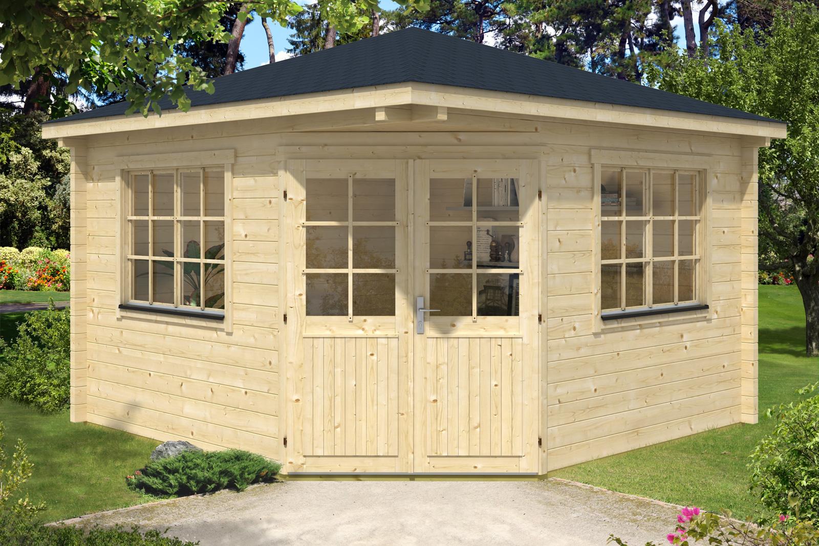 5 eck gartenhaus modell fabio 70. Black Bedroom Furniture Sets. Home Design Ideas