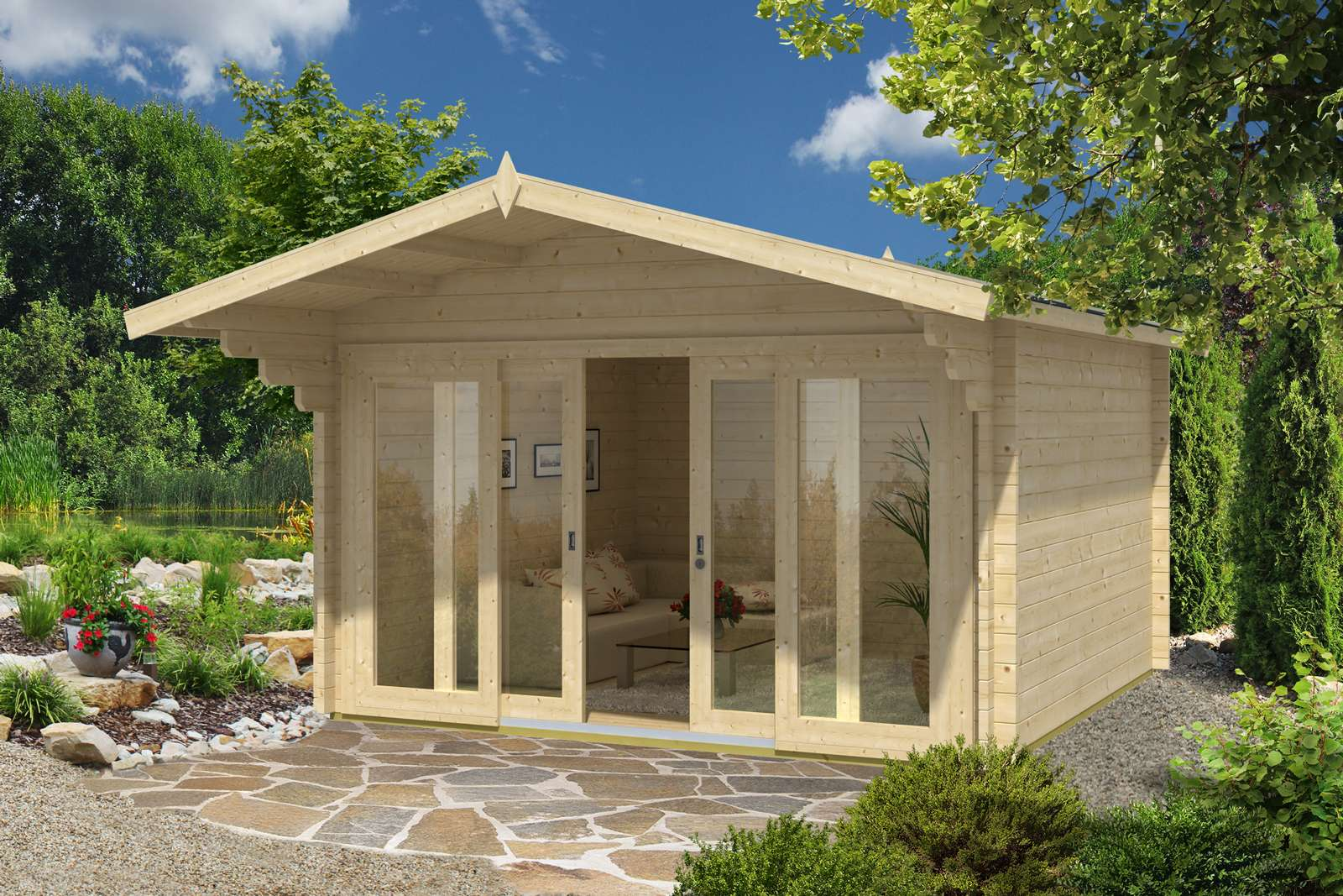Schiebetür gartenhaus selber bauen  Gartenhaus & Schiebetür - die perfekte Kombination