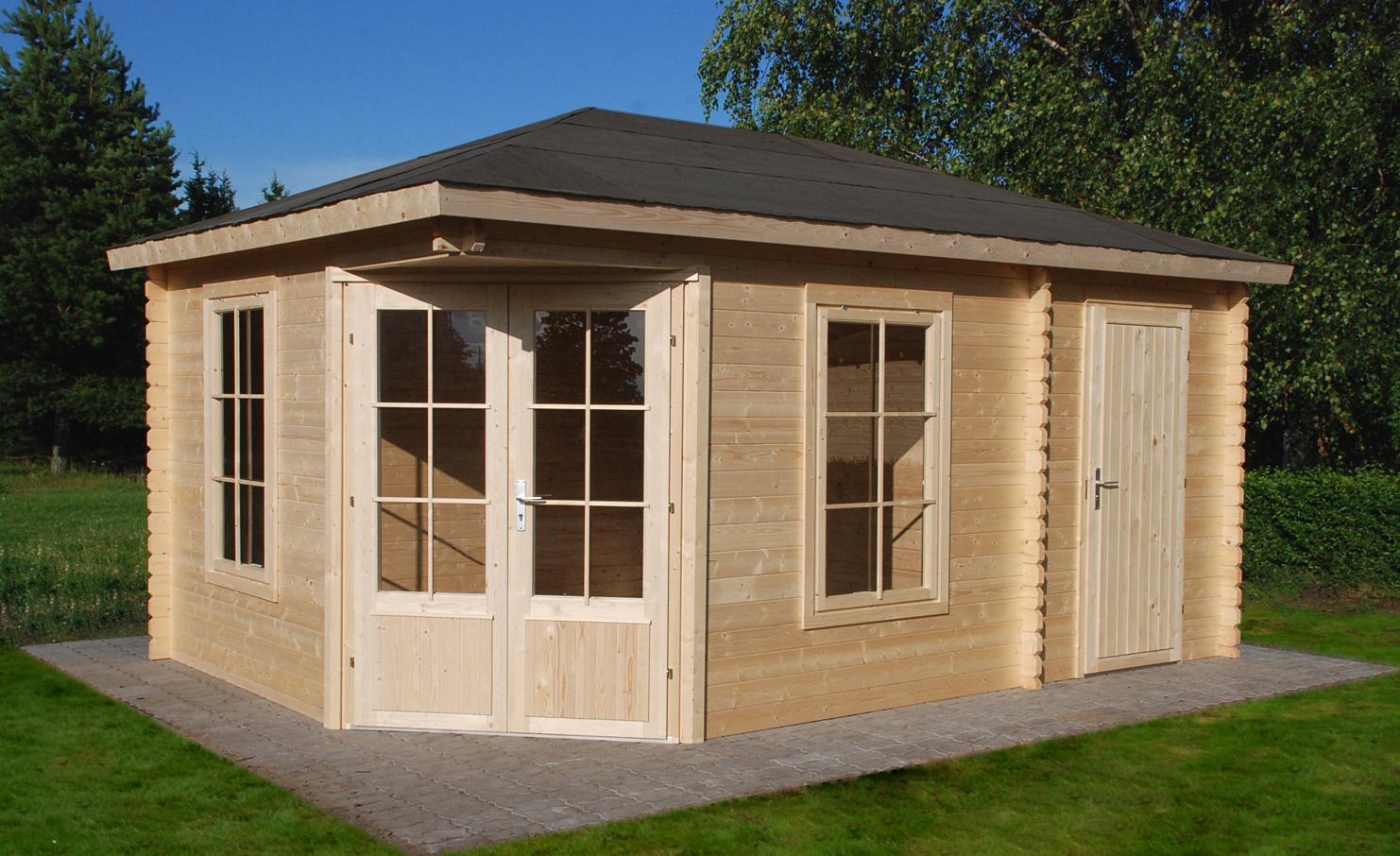 5 eck gartenhaus modell lauri 40. Black Bedroom Furniture Sets. Home Design Ideas