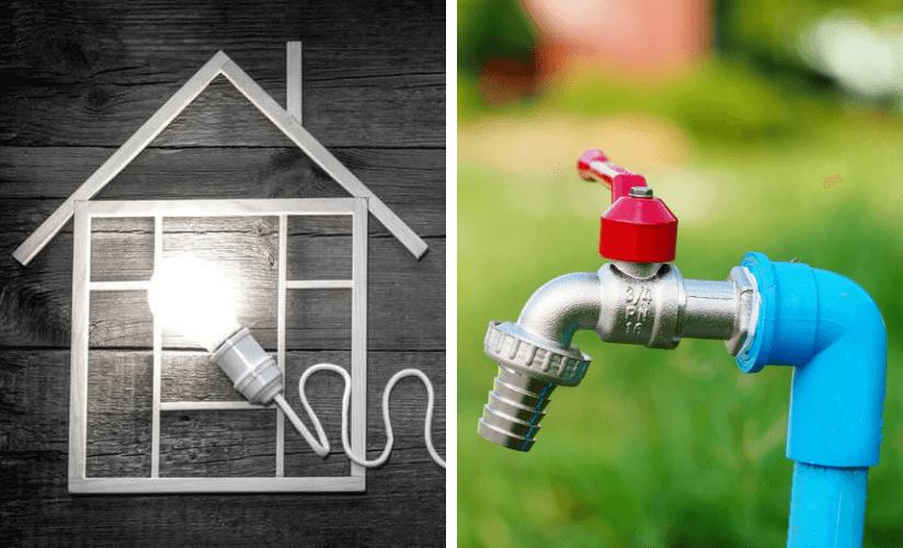Gartenhaus Strom Wasser
