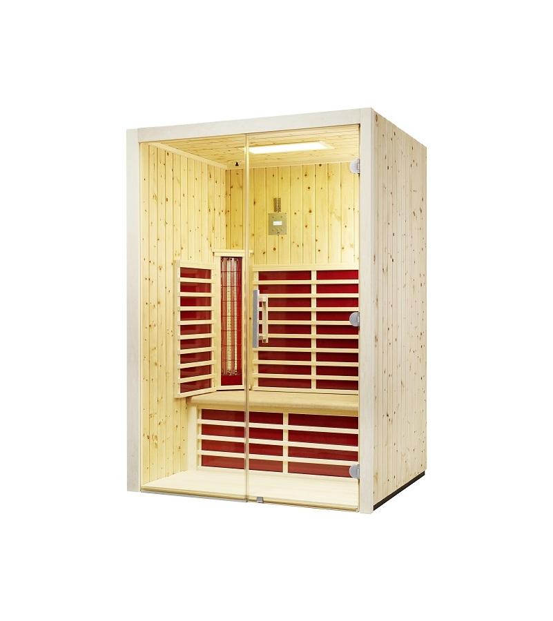 infraworld infrarotkabine fusion glas 145 zirbe 390147. Black Bedroom Furniture Sets. Home Design Ideas