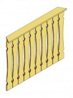 Brüstung Balkonschalung 108 cm