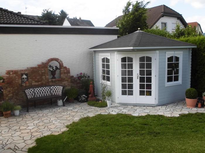 5 eck gartenhaus viking 40 iso. Black Bedroom Furniture Sets. Home Design Ideas