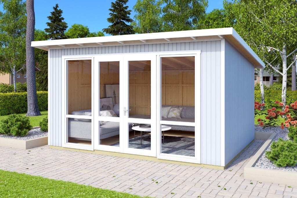 gartenhaus johanna mit schiebet r. Black Bedroom Furniture Sets. Home Design Ideas