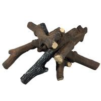 Brennholz aus Keramik Reisig Optik
