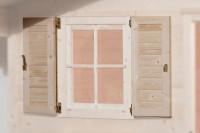 Fensterladen 2-seitig für Fenster 69x79cm