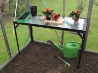 Aluminium-Tisch schwarz mit 1 Ebene