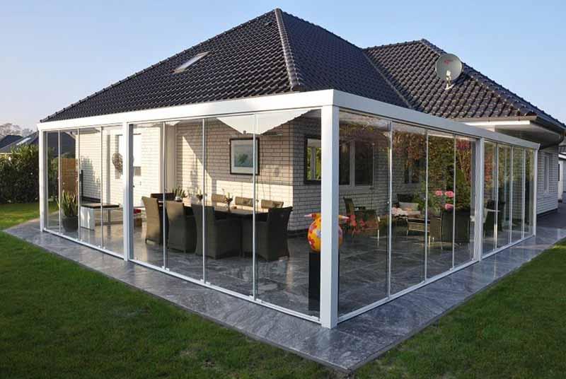 terrassen berdachung ber eck alu haloring. Black Bedroom Furniture Sets. Home Design Ideas