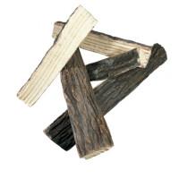 Brennholz aus Keramik Spaltholz Optik