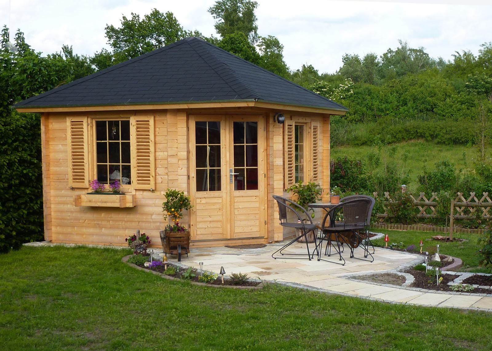 5 eck gartenhaus modell neckar 44 a. Black Bedroom Furniture Sets. Home Design Ideas