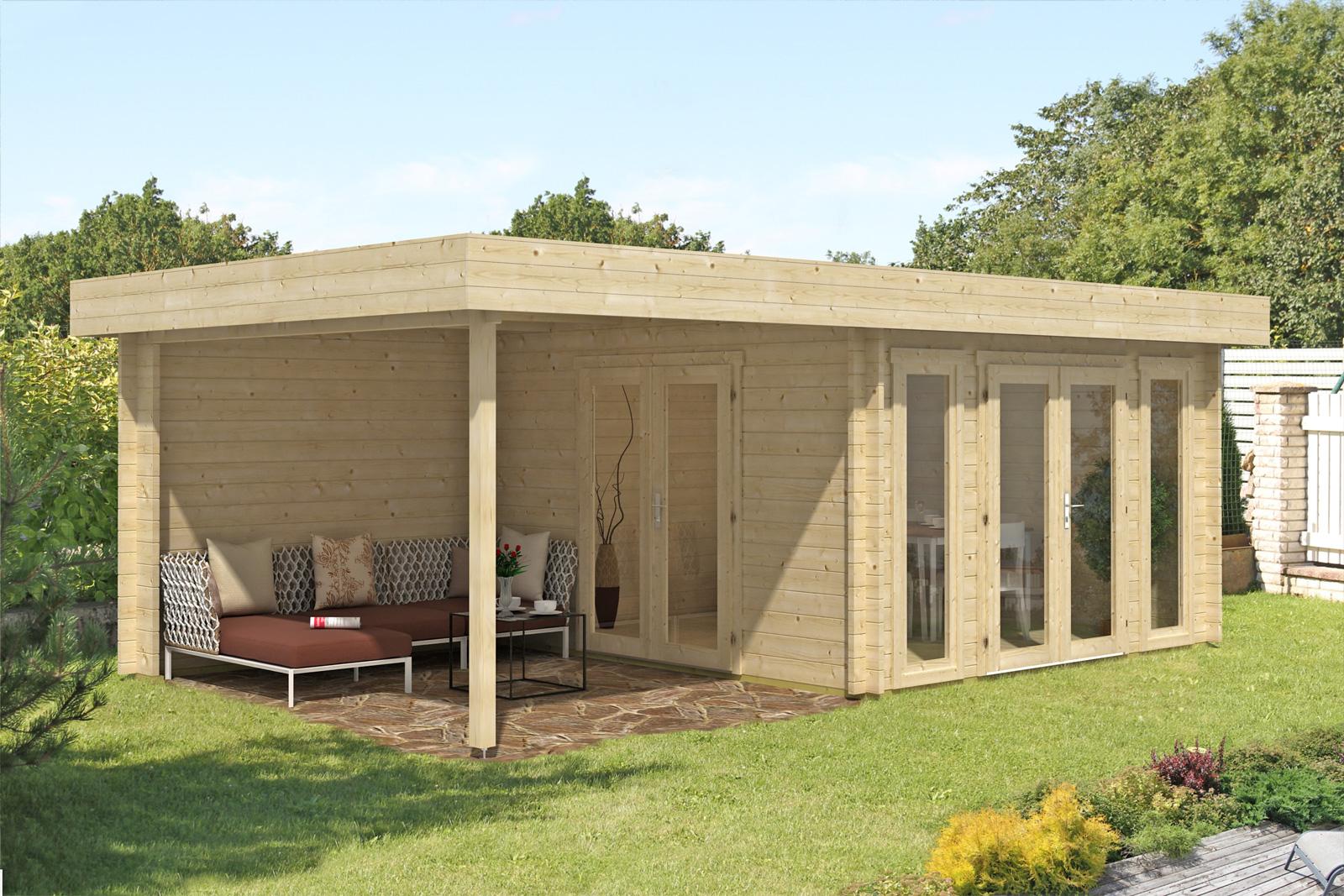 flachdach gartenhaus modell corsica 44 iso corsica 44 iso. Black Bedroom Furniture Sets. Home Design Ideas