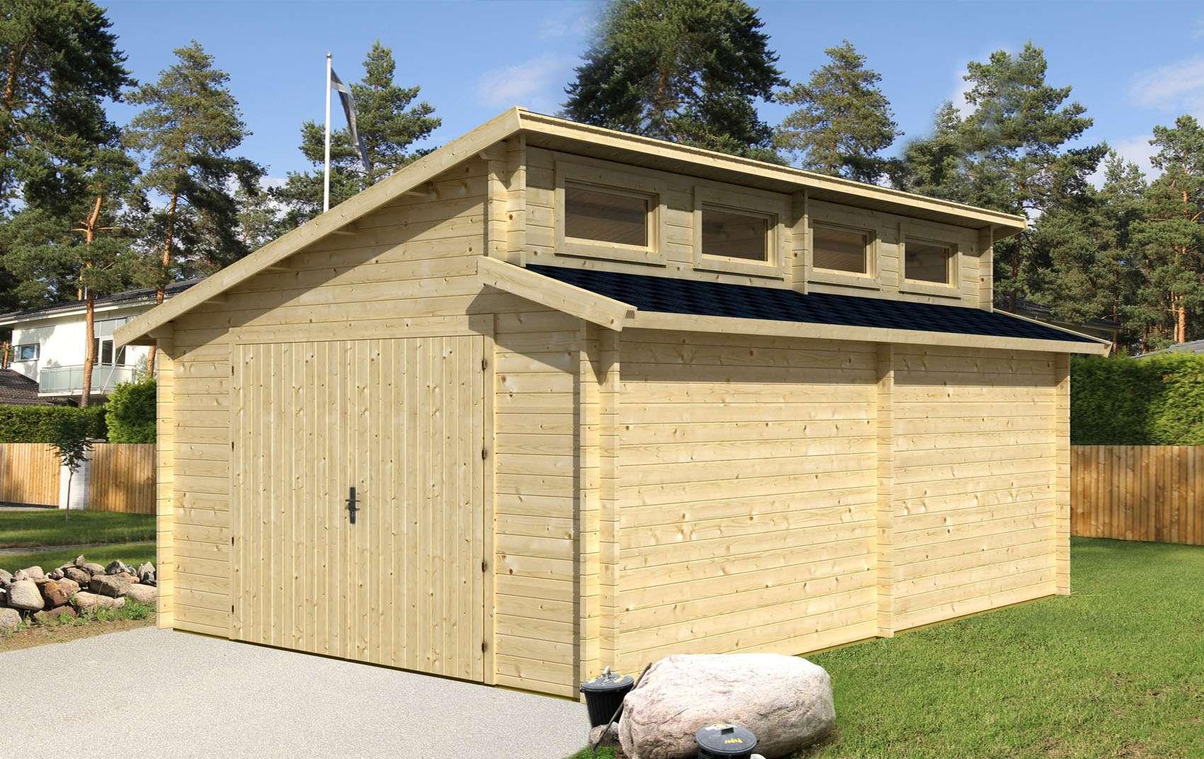 Holzgarage selber bauen  Holzgarage Västervik-44 ISO