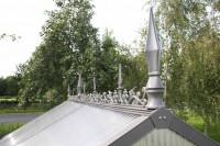 Firstverzierung für Gewächshaus Typ III, Aluminium-Blank