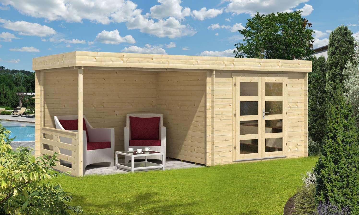 fabulous gartenhaus mit flachdach gnstig kaufen 0 versandkosten jk63 - Fantastisch Moderne Gartenhuser