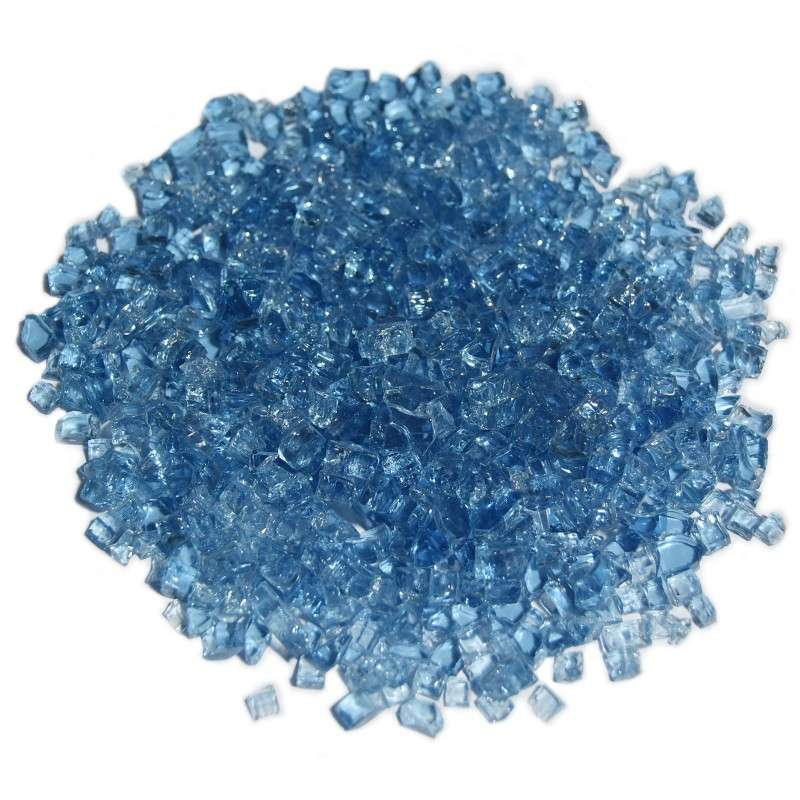 Deko Glas Splitt - Caribbean Blue 5-8mm