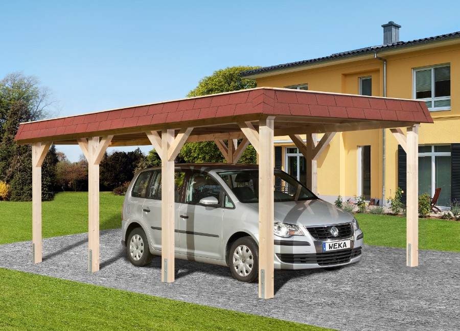 weka leimholz flachdach einzelcarport 615 gr 1. Black Bedroom Furniture Sets. Home Design Ideas