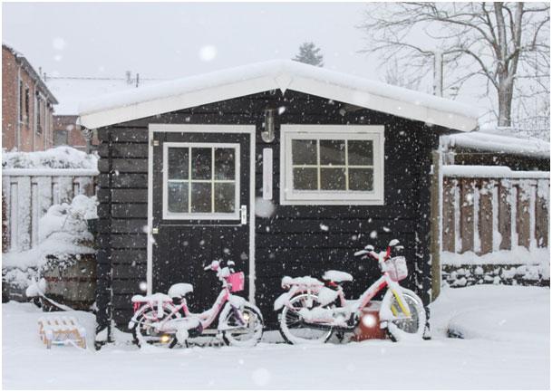 Fußbodenbelag Gartenlaube ~ Gartenhaus im winter: so machen sie es winterfest